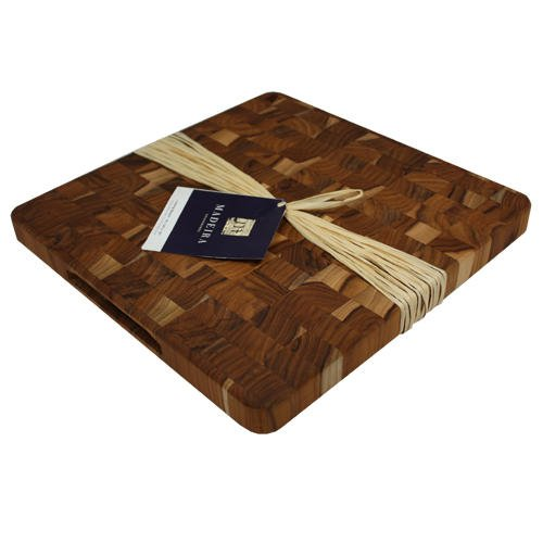Maderia Canary Teak End-Grain Chop Block, Medium