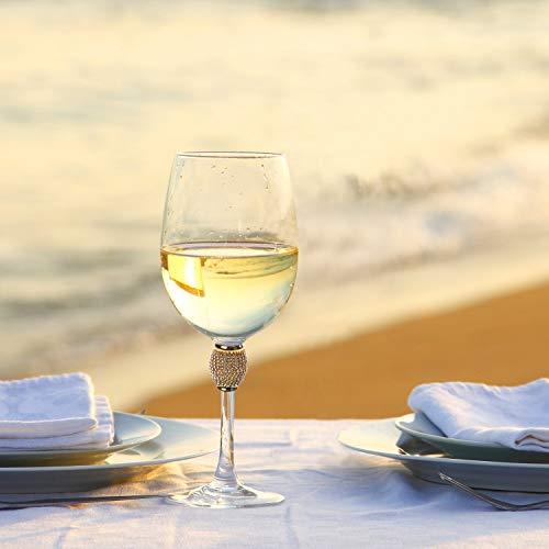 IMPULSE! Gold Biarritz Goblet Glasses, Set of 4 Glasses