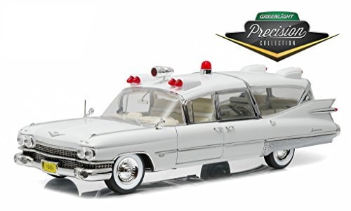Ambulance Cadillac 1959 (Greenlight Precision Collection 1959 Cadillac Ambulance Vehicle (1:18 Scale), White)