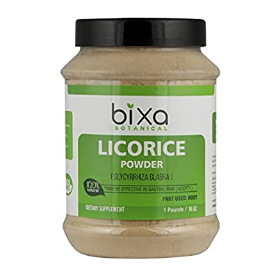 Bixa Botanical - Licorice root Powder (Glycyrrhiza glabra), 100% Natural Dietary Supplement