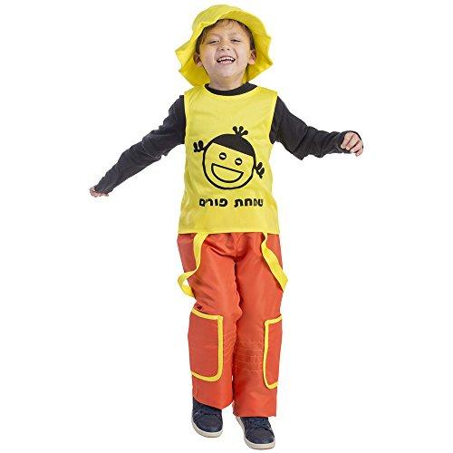 Jolly Clown Costumes (Purim Jolly Boy Costume Dress Up America - Size Medium 8-10)