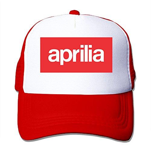 HandSon Custom Unisex Snapback Aprilia Vector Logo Basketball Cap Hat Red