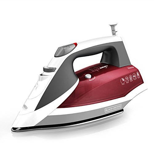 BLACK+DECKER Vitessa Advanced Steam Iron with Dual-Position Cord, Red, IR2050