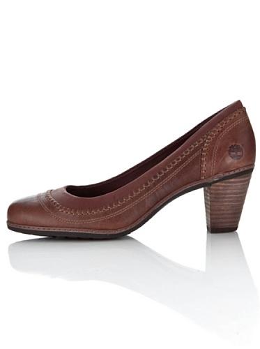 Marrón Mujer Piel Para Zapatos Timberland Oscuro Vestir De Lisa qFBf0ZA