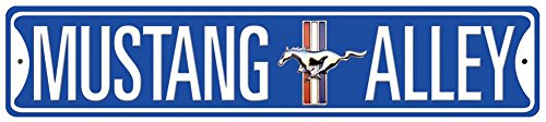 - Mustang Alley Tin Sign 24 x 5in