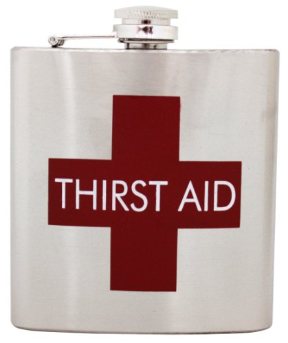 Island Dogs Thirst Aid Flask, Silver]()