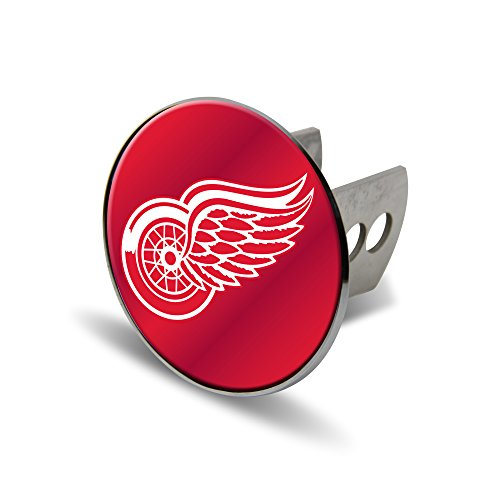 Rico NHL Detroit Red Wings Laser Cut Metal Hitch Cover, Large, Silver