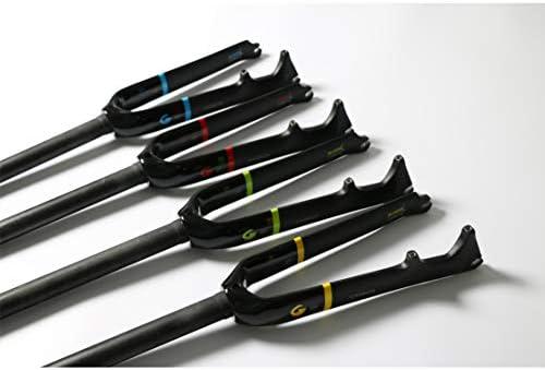 いっぱい カーボンファイバー 自転車 フォーク 小さいホイール 自転車 Cブレーキ+ ディスクブレーキ フォーク,Green-A,18-inch