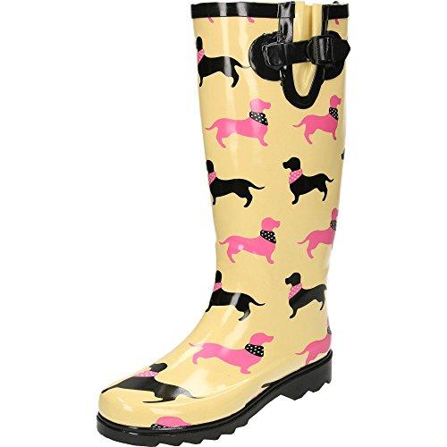 jwf Dachshund Women's Dog Print Wellington Boots Dachshund
