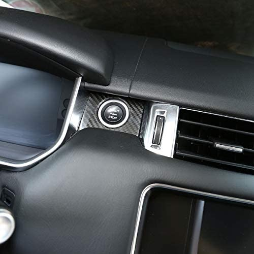 Real Carbon Fiber For Range Rover Sport 2014-2017 Car Steering Wheel Decoration Trim For RR Velar