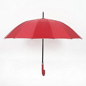 Estilo europeo moderno simple hueso 16 Paraguas Paraguas asoleado el plástico revestimiento anti-UV hombres
