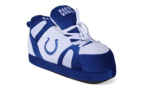 Indianapolis Colts Shoe - Comfy Feet ICO01-1 - Indianapolis Colts - Small - Happy Feet NFL Slippers