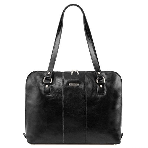 Leather Exclusif pour Marron femme Ravenna business sac Noir Tuscany BxOwx