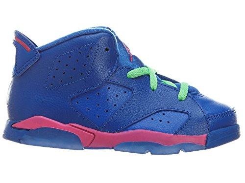 Nike Jordan 6 Retro Bt, Zapatos de Primeros Pasos para Bebés Game Royal/Vivid Pink-Lucid Green