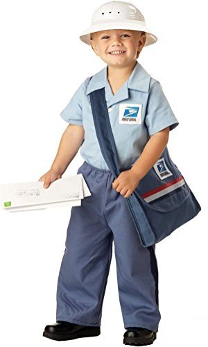 [POPLife Mr Postman USPS Mailman Toddler Child Halloween Costume] (United States Postal Service Costume)