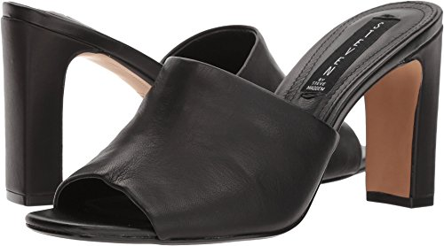 Steven Toe Open Sandals (STEVEN by Steve Madden Women's Jensen Heeled Sandal, Black Leather, 7.5 M US)