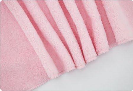 Vine Couverture de b/éb/é ultra douce avec capuche et animal en peluche /à la mode-Peignoir de bain /à capuche pour b/éb/é rose /à motif nounour ourson 92x72cm