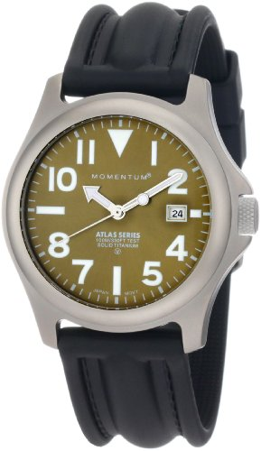 - Momentum Men's 1M-SP00G1 Atlas Green Dial Black SLK Rubber Watch