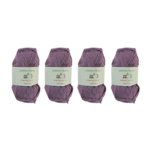Lace Weight Tencel Yarn - Delightfully Fine - 60% Bamboo 40% Tencel Yarn - 4 Skeins - Col 27 Light Purple ()