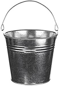 Floristrywarehouse Decorative Galvanised Bright Metal Bucket 5 Inches Tall