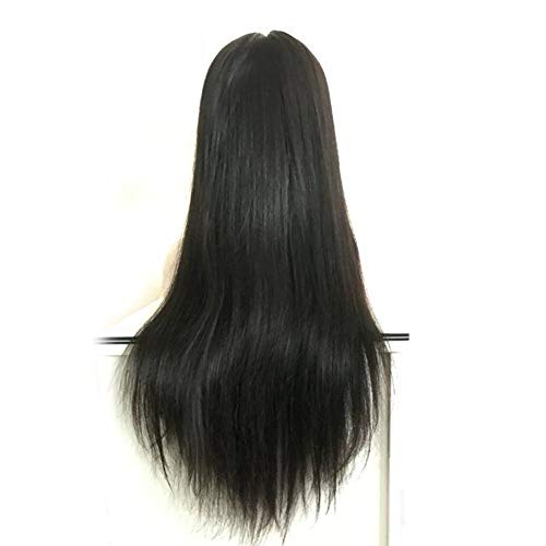 (Forawme Remy Brazilian Straight Long Full Lace Wigs Website For Women 130% Density 1B 30 Inch Pre Plucked Virgin Human Hair Lace Wigs)