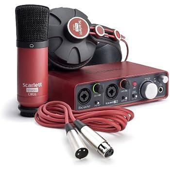focusrite scarlett 2i2 studio 1st generation audio interface and recording bundle. Black Bedroom Furniture Sets. Home Design Ideas
