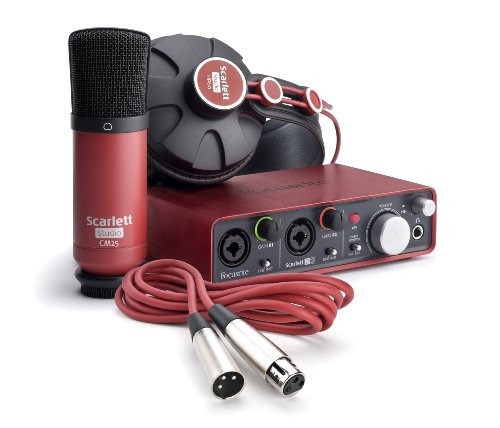 Focusrite Scarlett 2i2 Studio (1st GENERATION) Audio Interface and Recording Bundle from Focusrite