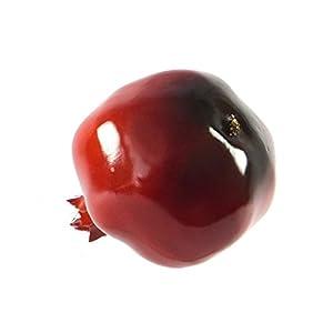 6pc Artificial Large Pomegranates - Pomegranate Plastic Red Fruit - Six Pieces 2