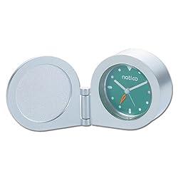 Natico Round Alarm Clock In Tin Box (10-150TIN)
