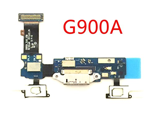 (by Walking Slow- Replacement Charging Charger Port Micphone Flex Cable Dock Connector Ribbon for Samsung Galaxy S5 V-PLS Choose Correct Version (G900A AT&T))