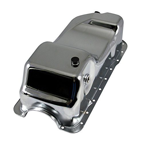 Assault Racing Products A9754 Ford 5 0 Mustang Chrome Dual Sump Oil Pan - Stock Capacity - Mustang Chrome Rod