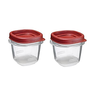 Rubbermaid Easy Find Lid Food Storage Set, 1/2-Cup (2-Pack of 2) Size: 1/2 Cup (2-Pack of 2) Style: 4 Piece set, Model: , Hardware Store