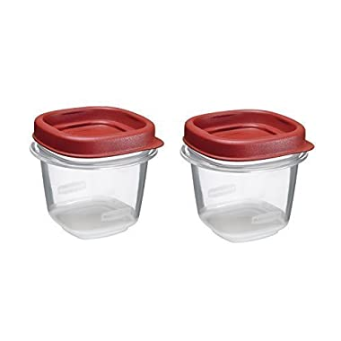 Rubbermaid Easy Find Lid Food Storage Set, 1/2-Cup (2-Pack of 2)