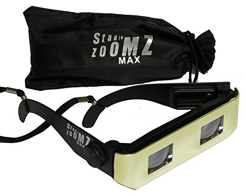 StadiumZoomz Max Opera Glasses 4X - Gold. Telescope Lenses, Zoom in for Theater,Concerts,Boating,etc