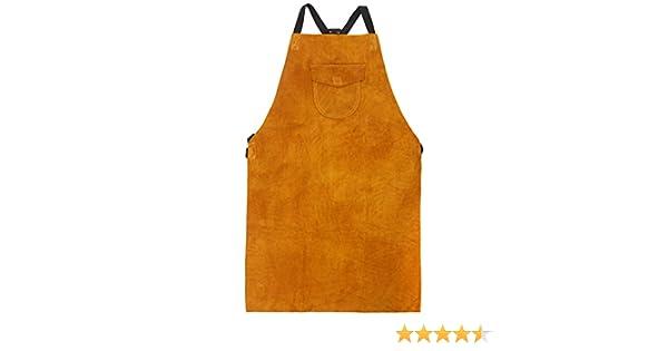 Amazon.com: Portwest Workwear Mens Leather Welding Apron Tan One: Clothing