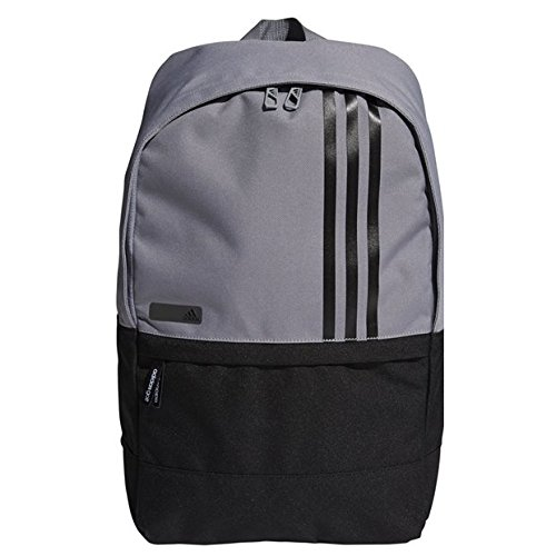 (Adidas 3-Stripes Small Backpack Grey/Black)