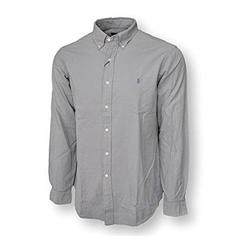 Polo Ralph Lauren Men's Long Sleeve Oxford Button Down - Grey Lauren Polo Ralph