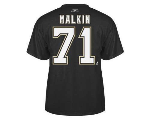 Evgeni Malkin Pittsburgh Penguins Black Reebok Name & Number T-shirt - XL ()