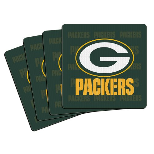 NFL Green Bay Packers Neoprene Coaster, (Green Bay Packers Coasters)