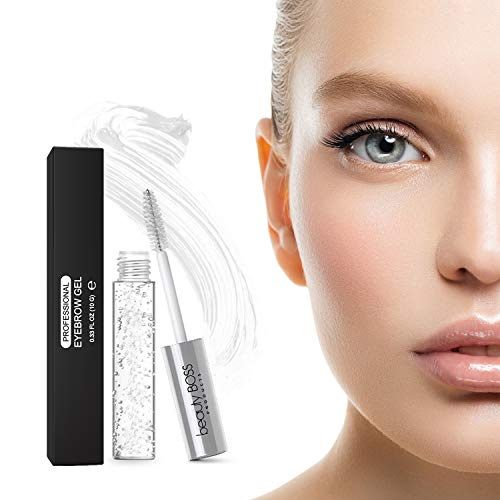 Clear Eyebrow Gel Brow Mascara - Sculpting Clear Gel for Glossier Brows - Natural Liquid Browgel made in USA