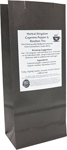 Cayenne Pepper and Organic Rooibos Herbal Tea Bags (25 pack - unbleached)