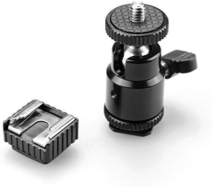 Tiamu 液晶モニターアダプター、ホットシューコールドシューベース付き、1/4インチのメス穴付き