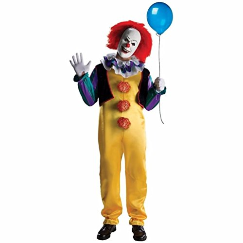 [Mememall Fashion Pennywise Costume Adult Scary Horror Clown IT Std & Plus Size XL] (The Real Spiderman Costumes)