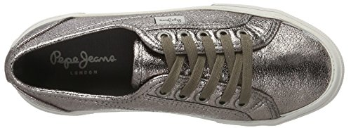 Pepe Jeans Women's Aberlady Met Trainers Silver (Chrome 952) MC2Fwtra