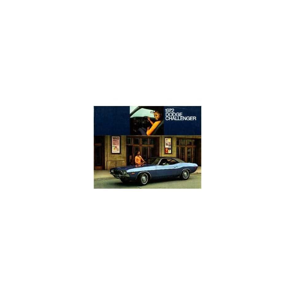 1972 Dodge Challenger Sales Brochure Literature Book Advertisement Options Specs