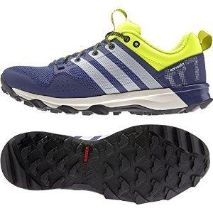 adidas Outdoor Kanadia 7 Trail Running Shoe - Men's Midnight Indigo/Chalk White/Solar Yellow 8.5