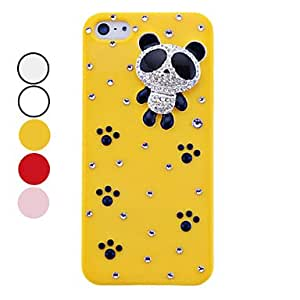 Lureme Diamond Little Bear Pattern Back Case for iPhone 5/5S(Assorted Colors) --- COLOR:Transparent