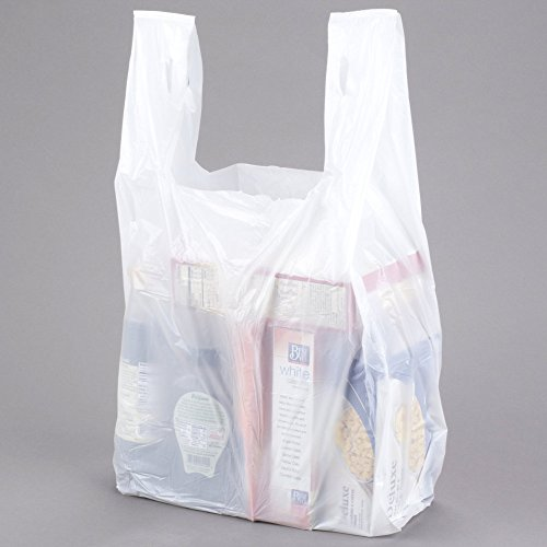 Large Plastic Grocery T Shirts Carry Out Bag Plain White