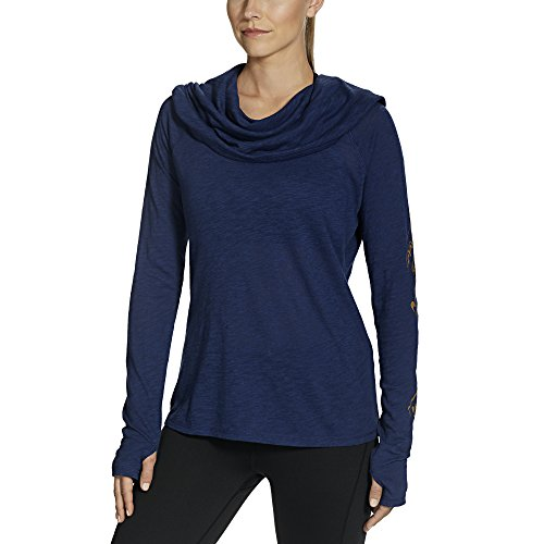 Gaiam Women's Emery Cowl Top, Midnight, X-Large
