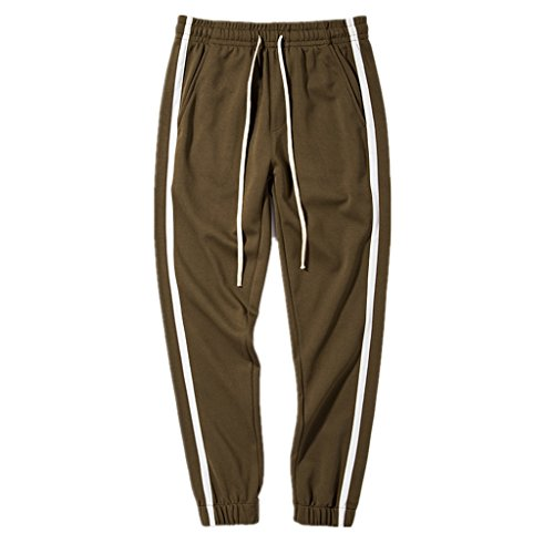 2018 Spring Simple Color Stripe Trousers Couple Casual Style by INFLATION
